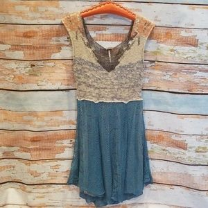 NWOT BARELY WORN Free People Knit Glittery Dress!